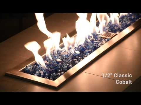 """Modern Outdoor Products - American Fireglass - 1/2"""" Classic - Cobalt"""