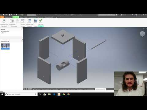 Creating An Assembly, Exploded View, And Parts List In Autodesk Inventor 2018