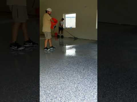making a epoxy flake floor