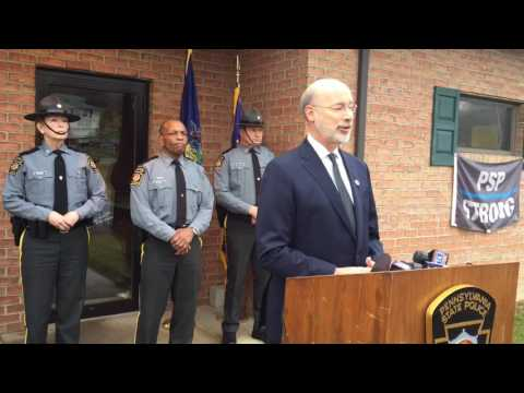 Gov. Tom Wolf addresses trooper's death
