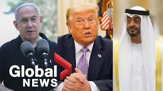 "Trump announces ""historical peace agreement"" between Israel, United Arab Emirates"