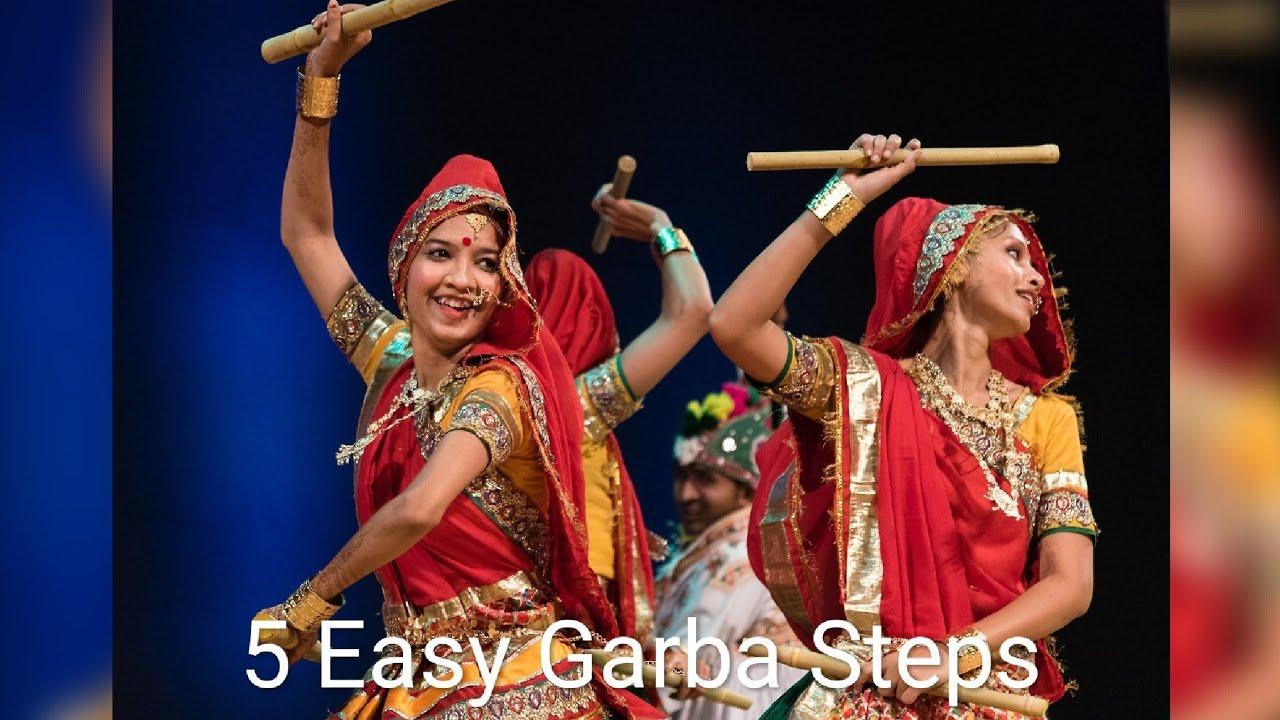 Learn 5 easy garba steps|tutorial|part-1