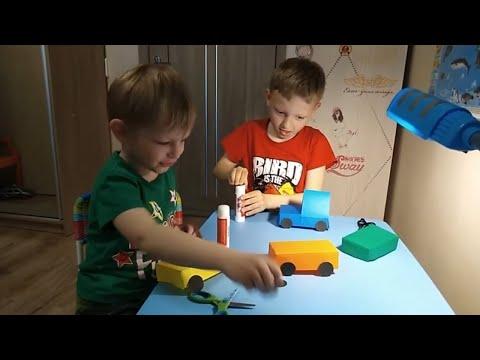 Паровозик из картона своими руками для детского сада