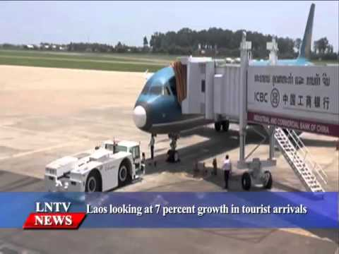 Lao NEWS on LNTV: Laos looking at 7 percent growth in tourist arrivals.23/10/2015