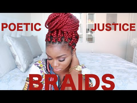 How To Poetic Justice Braids On Short Natural Hair Big