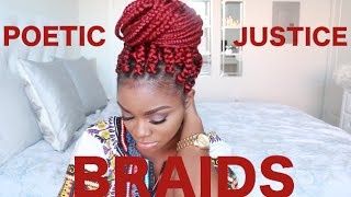 HOW TO | POETIC JUSTICE BRAIDS ON SHORT NATURAL HAIR | BIG BOX BRAIDS