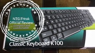 Logitech k100 Classic Ps/2 Keybord Unboxing & Review