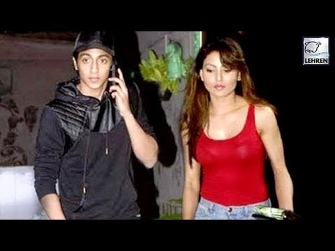 Urvashi Rautela Caught With  Ahaan Pandey, Tries To Hide From Media | LehrenTV