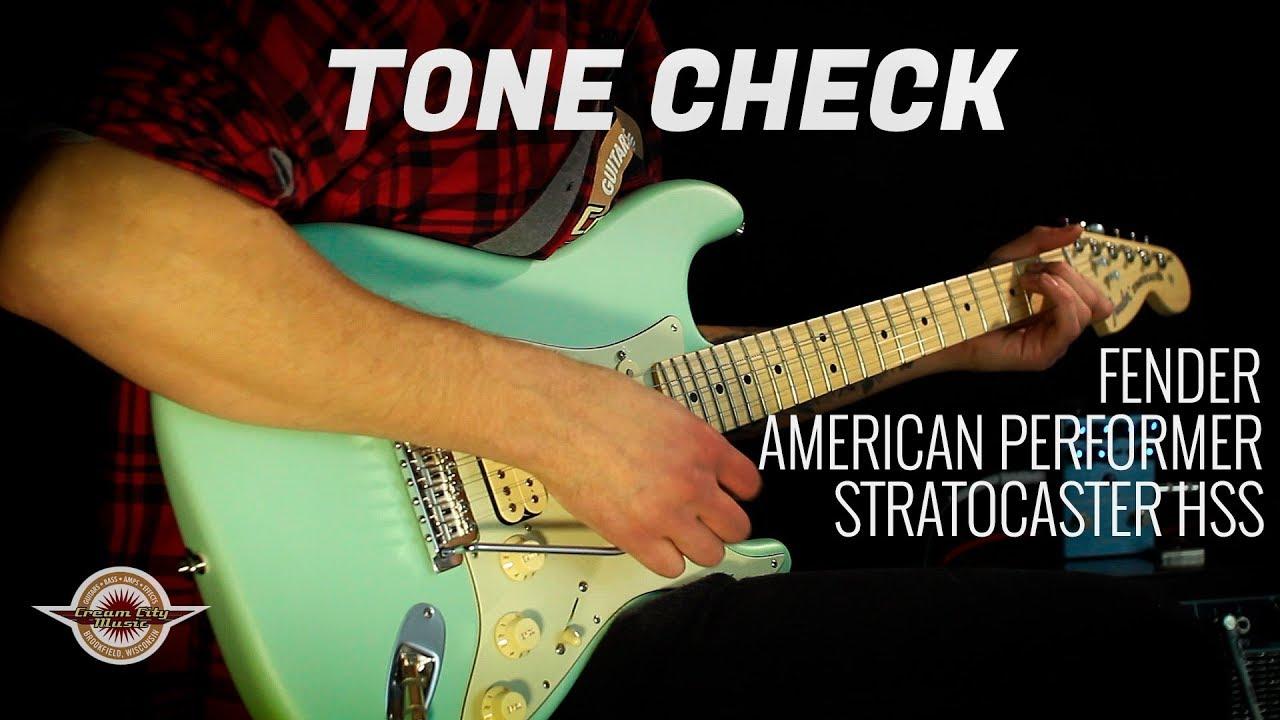TONE CHECK: Fender American Performer Stratocaster HSS Demo NO TALKING