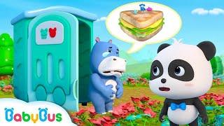 ★NEW★おなかをこわしちゃった!落ちてるものは食べたちゃだめ!| よい生活習慣 | 赤ちゃんが喜ぶアニメ | 動画 | ベビーバス| BabyBus