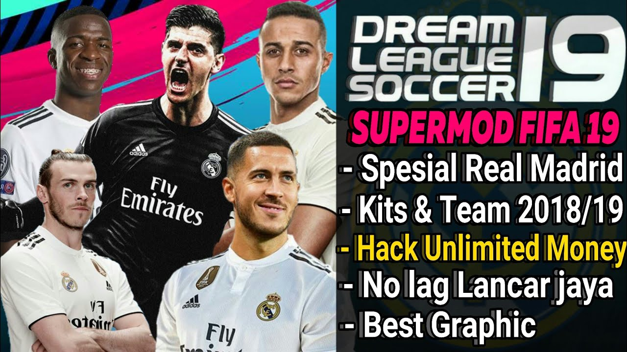 f4b69ecfc Download Dream League Soccer mod Real Madrid Player & Kits 2018/2019 | Fifa  19 Hack Unlimted Money
