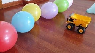 Buğra Kumandalı Kamyon ile Balonları Patlattı