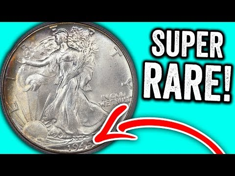 SUPER RARE SILVER HALF DOLLARS WORTH MONEY - 1945 WALKING LIBERTY HALF DOLLAR VALUE