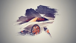 Photoshop Cc Tutorial How To Make Brush Effect Wallpaper Lamborghini Egoista