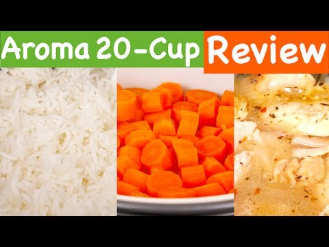 aroma-housewares-20-cup-cooked-digital-rice-cooker,-slow-cooker,-food-steamer-review