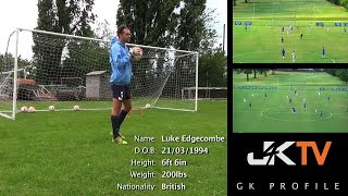 Goalkeeper Profile Luke Edgecombe