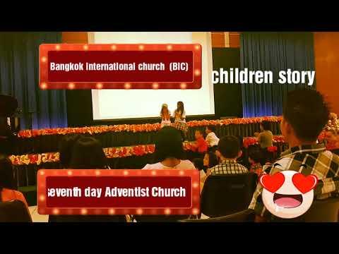 Bible children story at Bangkok international church Bangkok seventh day  Adventist Church