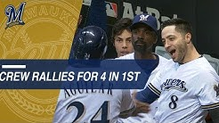 NLCS Gm6: Brewers open up with 4 runs in the 1st inning