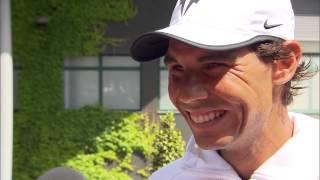 Rafael Nadal interviews for the job of Wimbledon Champion