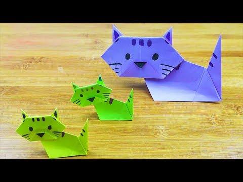 How To Make Paper Cat Little Kitten | Origami Cat Little Kitten | Easy Origami Tutorial