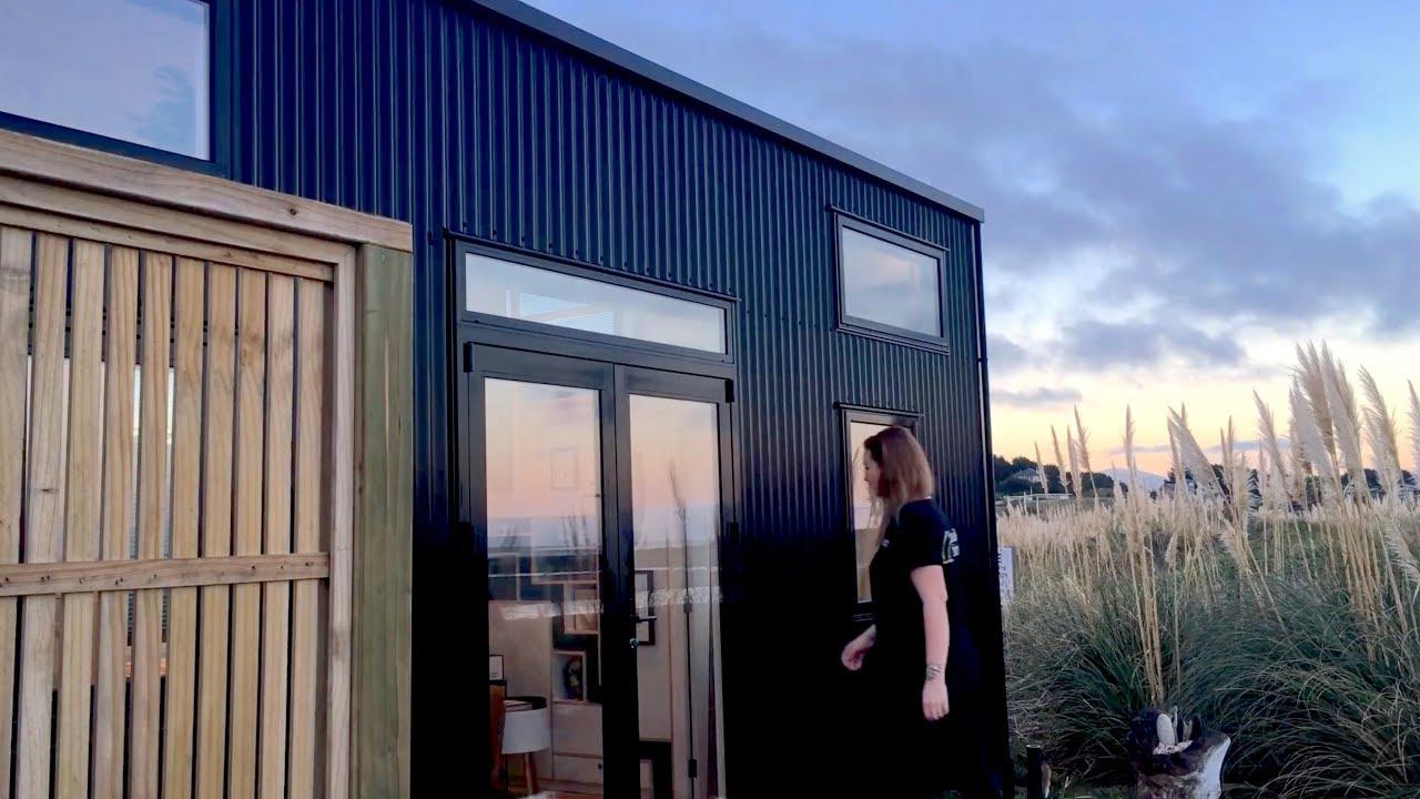 Tiny House Parked On New Zealand Beach Youtube