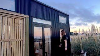 Tiny House Parked On New Zealand Beach