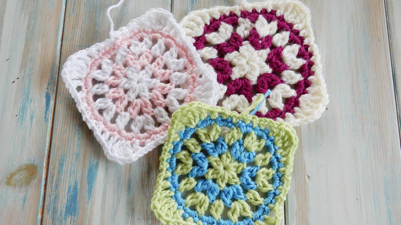 Starburst Granny Square How To Crochet Youtube
