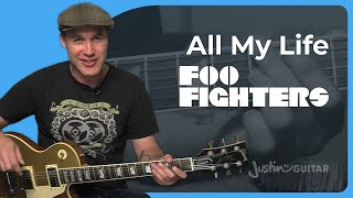 How to play All My Life by Foo Fighters (Rock Guitar Lesson SB-302)