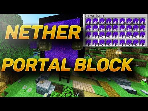 Minecraft Bedrock HOW To Get A Nether Portal Block *FARM* MCPE / Xbox / PS4 / Windows / Switch