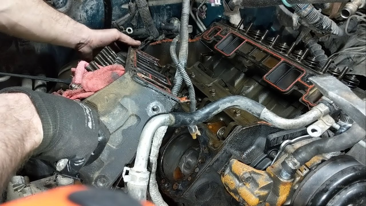 Chevy 5 7 Head Gasket Replacement Part 3 - Rocker Arms, Push Rods, and Head  Removal