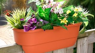 24 Dual Deck Railing Planter from Apollo Exports