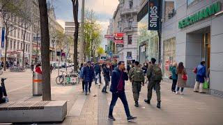 Walking Vienna City, End of Hard Lockdown, Shops Reopen, Neubaugasse, Mariahilfer Straße | 4K HDR