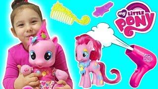 My Little Ponny Pinkie Pie ile Harika Saç Tasarımları | Asya 'nın Dünyası Eğlenceli Çocuk Videoları