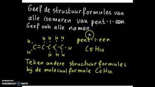 naamgeving alkanen, alkenen, cycloalkanen en alkanolen