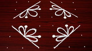 creative rangoli designs with 6x6 dots - latest simple kolam designs - easy muggulu designs