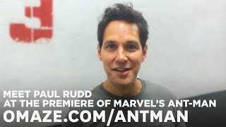 Paul Rudd Wants to Meet You at Marvel's Ant-Man Premiere