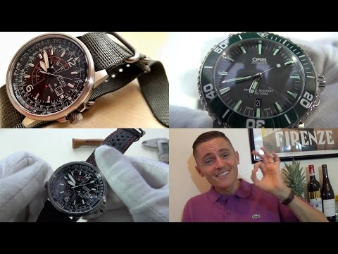 Oris Aquis (Green) Automatic Diver & Citizen Nighthawk Eco-Drive Watch Review + Channel News