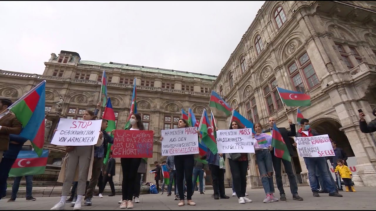 Azerbaijan Demonstration In Vienna Austria Saturday 18th July 2020 Youtube