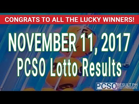 PCSO Lotto Results Today November 11, 2017 (6/55, 6/42, 6D, Swertres & EZ2)