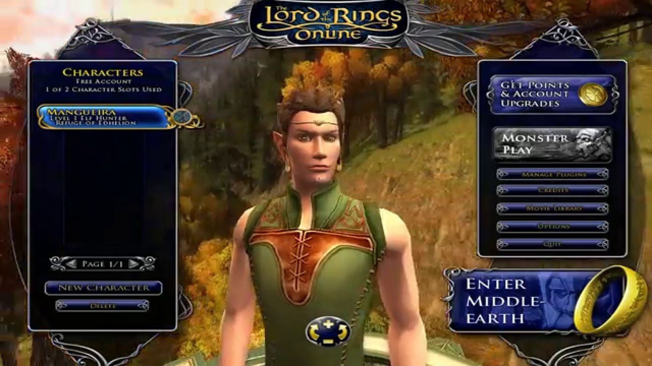 Lord Of The Rings Online New Character Models