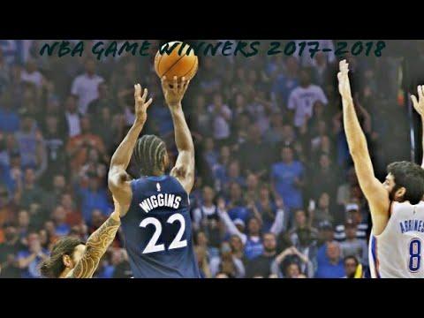 NBA GAME WINNERS 2017-2018 (SO FAR)