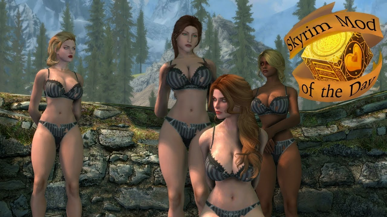 Skyrim Mod of the day: 7Base Oppai And Lingerie