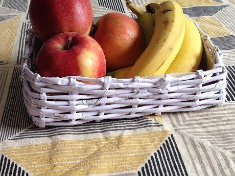 how to make newspaper basket |DIY  fruit basket | best out of waste | newspaper crafts