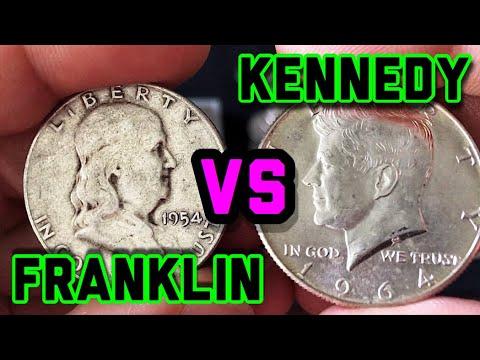 KENNEDY HALF DOLLARS VS FRANKLIN HALF DOLLARS