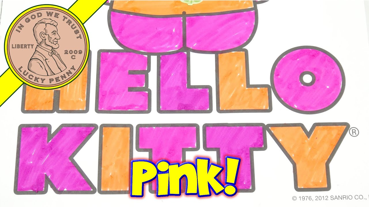 Hello Kitty Coloring Book  Scentos Scented Markers I Make A Pink