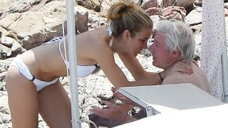 Richard Gere, 65, Cuddles Up to Alejandra Silva, 32, on the Beach