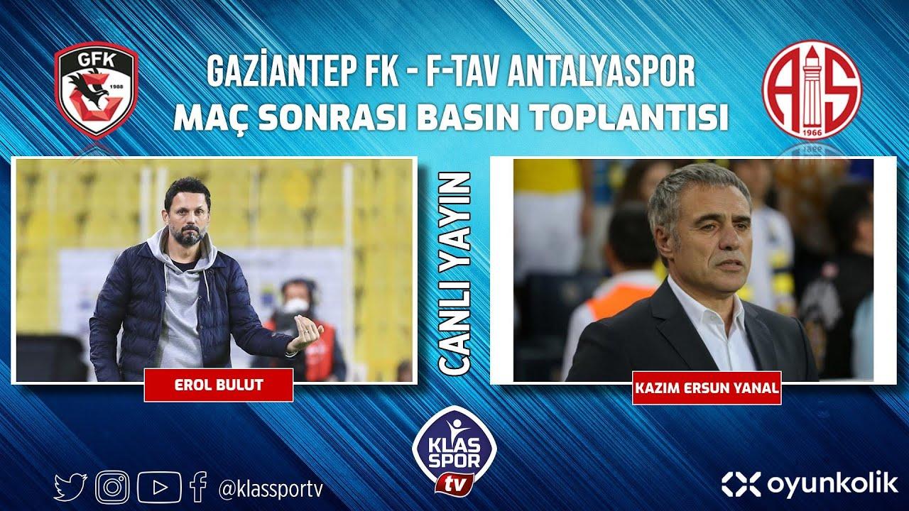 Gaziantep - Antalyaspor Basın Toplantısı ᴴᴰ (CANLI)