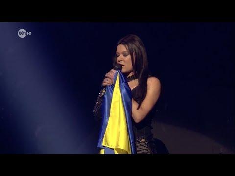 Ruslana devoted her performance to her Native United Ukraine | ESC Belgium Natioanal Final, 16.03.14