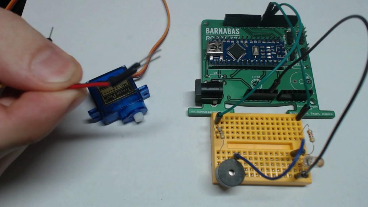 Wiring One Servo Motor Youtube