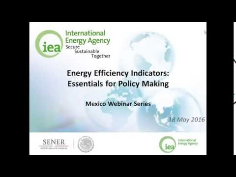 11. Energy Efficiency Indicators for Policy Making